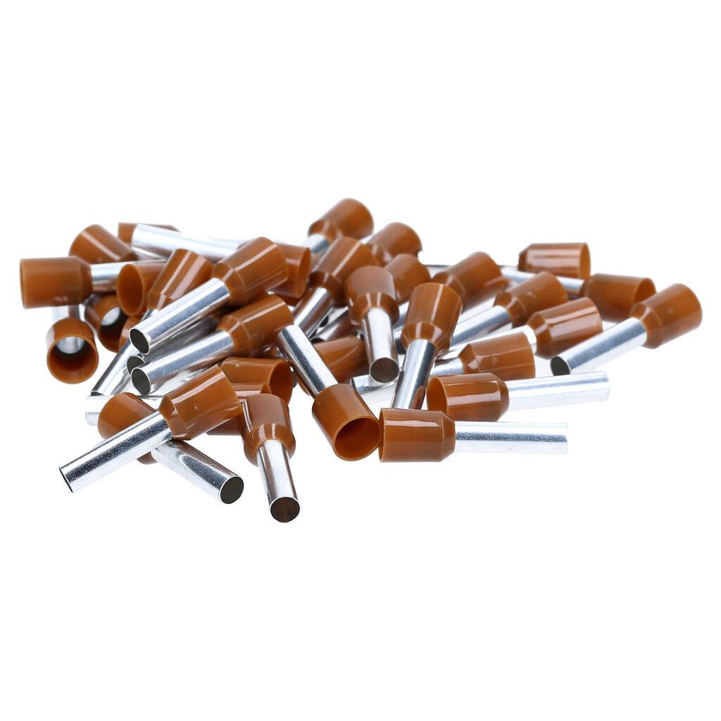 aus Deutschland NEU 50 Aderendhülsen 1,0 mm² qmm rot isoliert 8mm Klemmlänge