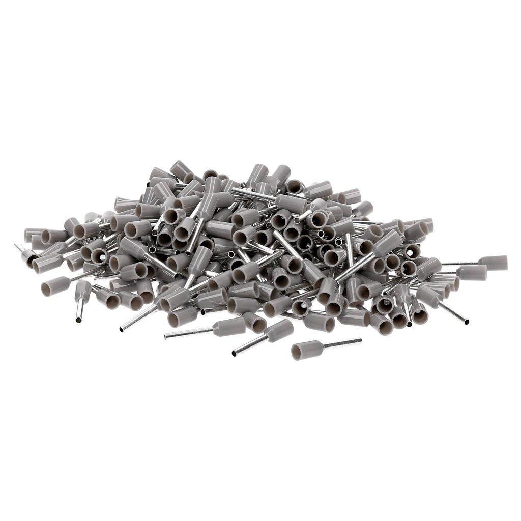 50 oder 100 Stück Aderendhülsen Grau Isoliert 0,14mm²