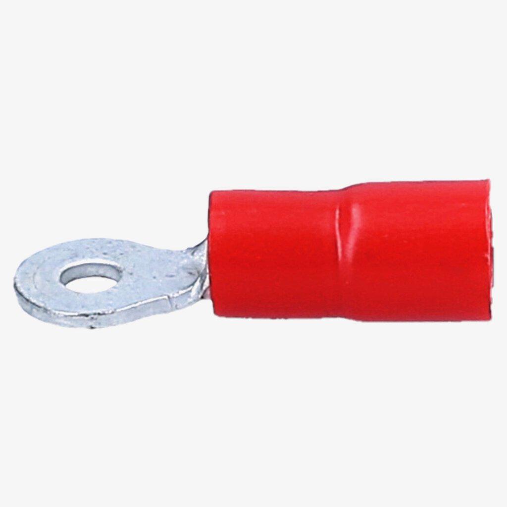 10 Ringkabelschuhe M3 0,5-1,5qmm rot